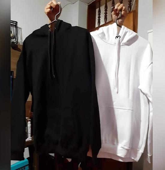 Poleras-sueter-hoodie De Algodon Afranelado Hombre- Mujer