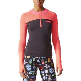 Sudadera Para Dama Marca adidas Wear Bs1147 Negro/coral