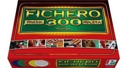 Juego De Mesa Fichero De Poker 300 Fichas Encastrables Plast