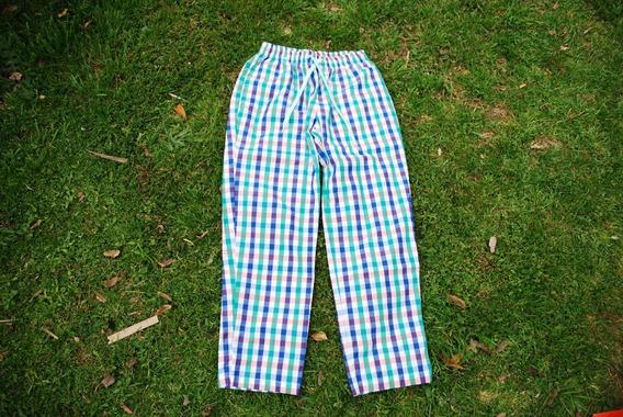 Pantalon Unisex Pijama Cuadrillé Tela Oxford 100% Algodón