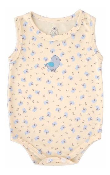 Body Regata Bebê Unissex Passarinho Cantor - Piu Blu