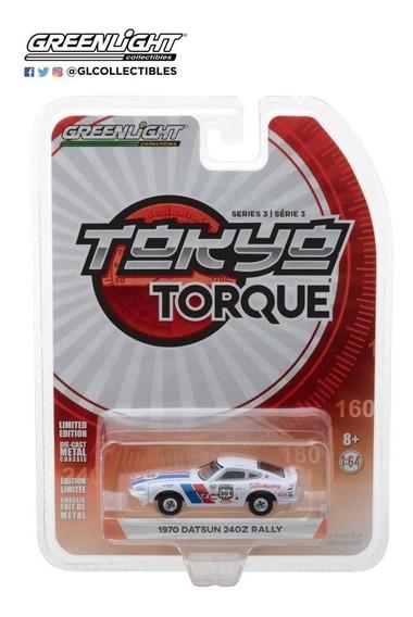 Datsun 240z Rally 1970 Tokyo Torque Series 3 Greenlight 1:64