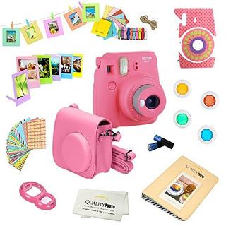 Paquete De Lujo Fujifilm Instax Mini 9 (flamingo Pink) Inclu