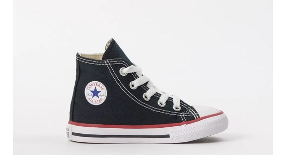 Tênis Converse All Star Kids Preto Ck00030007 Original C/nf