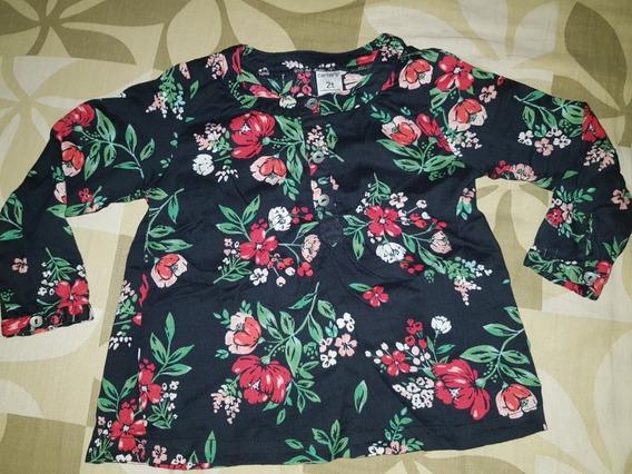Bella Blusa Camisa Floreada Niña Carters Talla 2t