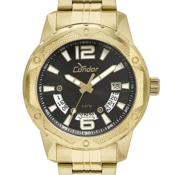 Relógio Condor Masculino Original Co2415bl/4p Dourado + Nf-e