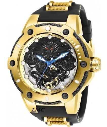 Relógio Invicta Mod: 26315 Bolt Automático Banhado Ouro 18k