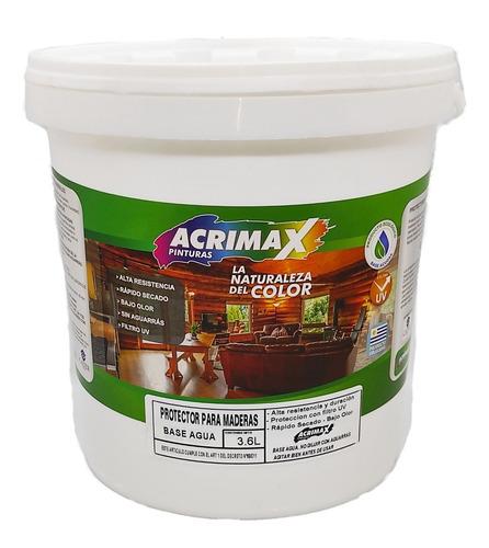 Protector Para Maderas Al Agua 3.6 L - Acrimax Pinturas