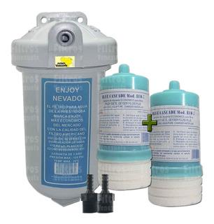 Filtro Agua Enjoy + 2 Cartuchos +2 Conectores - Nevera Ozono
