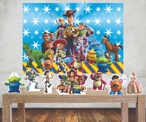 Imagem 1 de 5 de Kit Painel Poli Banner E Displays Toy Story