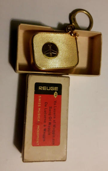 Reuge Swissair Sainte Croix Caja Musical Llavero