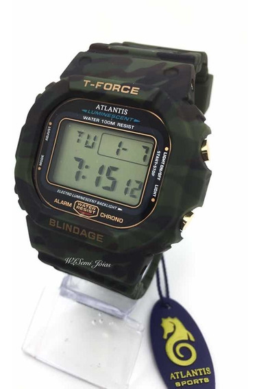 Relógio Digital Esportivo Atlantis T-fource Camuflado