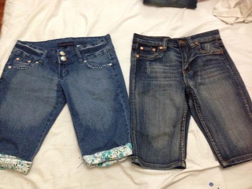 Bermudas Jeans Para Dama  Nuevos Talla 14