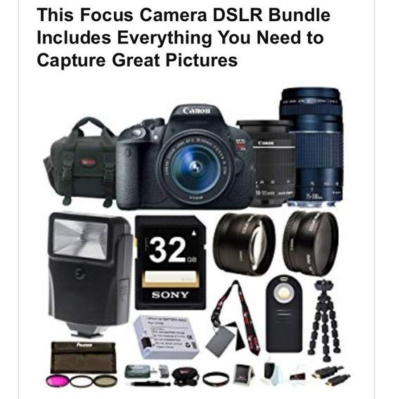 Kit Canon Dslr T5i - Câmera Profissional - Kit