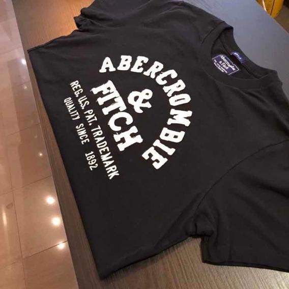 Camiseta Abercrombie Azul Naval Original
