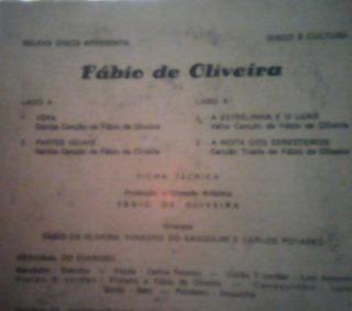 Cd Vinil-fábio De Oliveira -sua Voz Suas Belas Composições