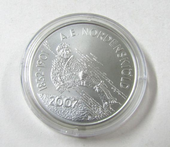 Finlandia 10 Euros De Plata 2007 Pasaje Al Noreste Unc