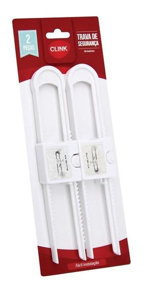 Kit 2 Travas De Segurança Para Porta Do Armário Bebê Criança