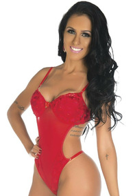 Body Gostosa Tulle Bojo Estruturado Pimenta Sexy - Promoção
