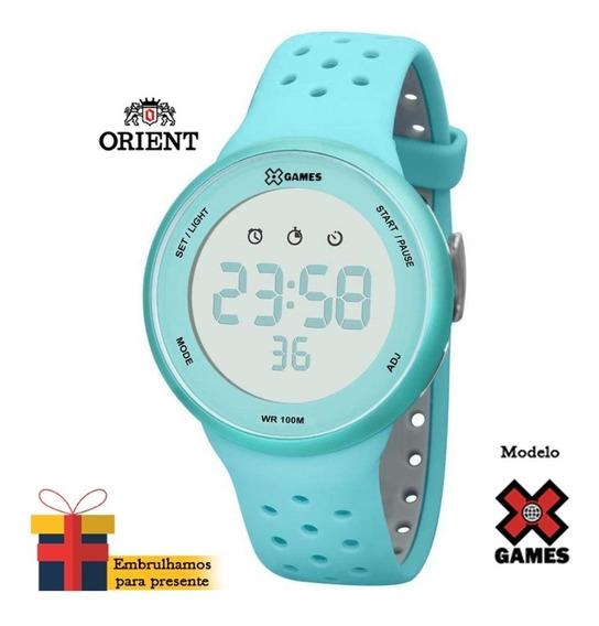 Relógio X-games Feminino Digital Xfppd041 Bxag Verde (nf)