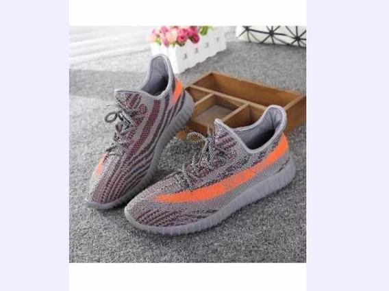 adidas Yeezy Boots 350 V2 Negro Y Gris /naranja