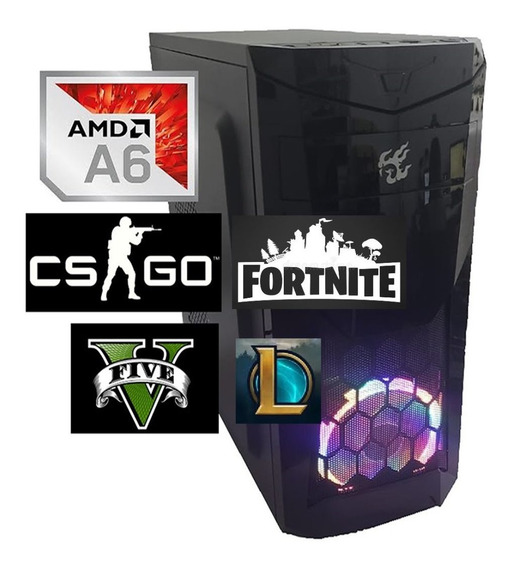 Cpu Gamer Barata Amd A6 7480 + 8gb + Hd500gb + Radeon 2gb