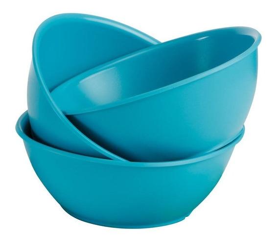 Bowl Turquesa 700ml X 4 Unidades Calidad Tupperware