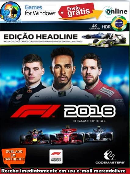 Formula 1 2018 Headline Dublado Em Portugues Pc Digital