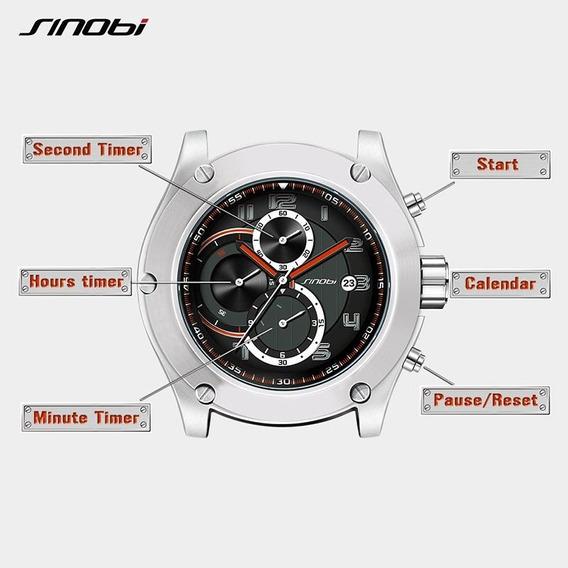 Relógio Sinobi Cronógrafo 100% Funcional S/ Estojo.