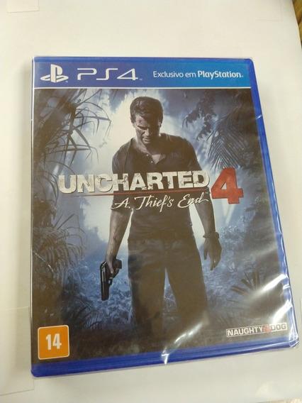 Uncharted 4 A Thiefs End Midia Fisica Ps4 Lacrado
