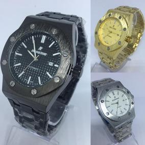 Relógio Audemars Piguet Dourado/ Prata/ Preto + Caixa