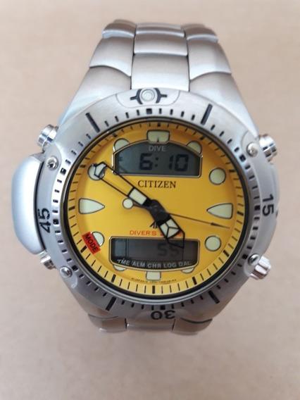 Relógio Citizen Aqualand Jp1060-52x Pulseira Aço