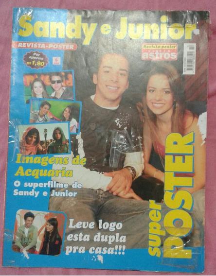 Revista Pôster Super Astros Pôster De Sandy E Junior Usada