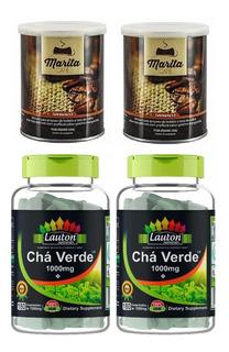 2 Chá Verde 1000mg 180 Caps + 2 Café Marita 3.0 Original
