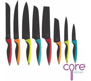Juego De Cuchillos Core Kitchen 8 Unidades Acero Inoxidable