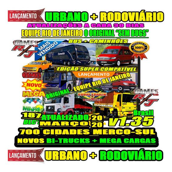 Jogo Euro Truck Simulator 2 Brasil Total 2019 Bus Caminhões