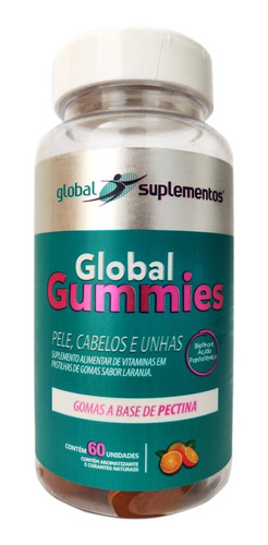 Global Gummies - Pele, Cabelos E Unhas 60 Unidades