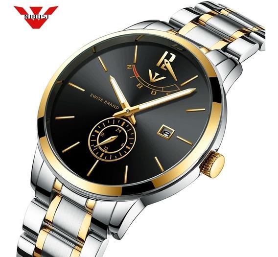 Relógio Nibosi 2318 Aço Inox Blindado À Prova D