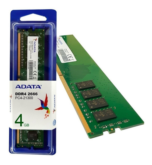 Memoria Ram 4gb 1x4gb Adata Ad4u2666w4g19-s