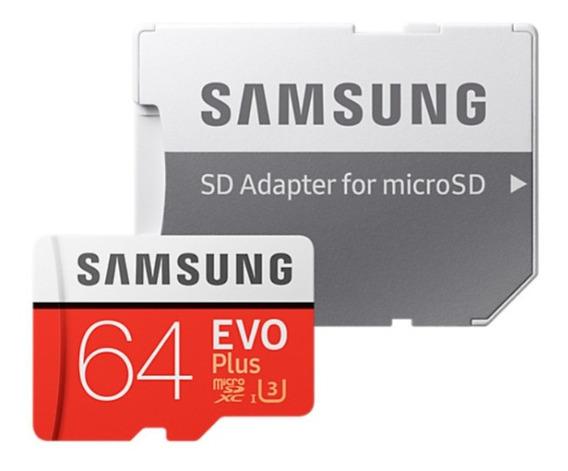 Cartão Samsung Micro Sd Evo Plus 64gb Classe 10 U3