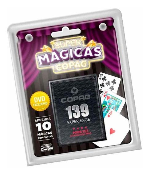 Kit Super Magicas Copag Baralho 139 Experience Poker Size