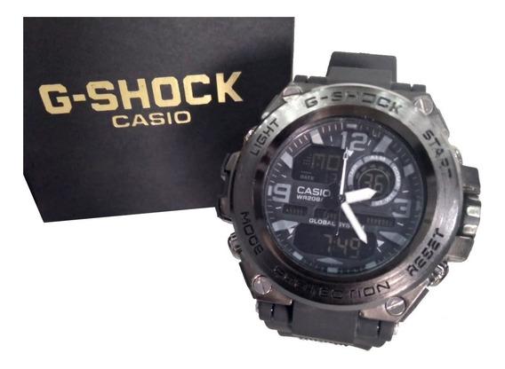 Relógio G Digital Analógico Esportivo Ferro Shoc Prova Dágua