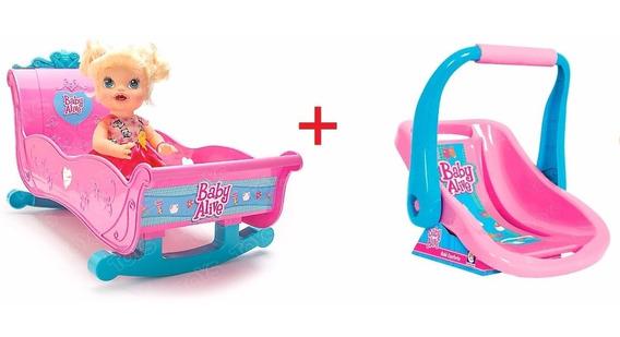 Kit Berço + Bebe Conforto Baby Alive Hasbro Cotiplas Menina