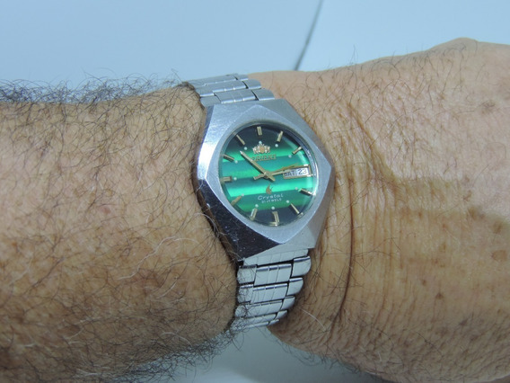 Lindo Relógio De Pulso Japonês Marca Oriente Automático.