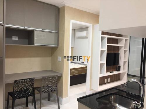 Apartamento Com 1 Dormitório Para Alugar, 38 M² Por R$ 3.500,00/mês - Brooklin - São Paulo/sp - Ap41887