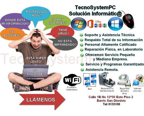 Imagen 1 de 10 de Mantenimiento Y Reparación De Computadoras.