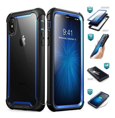 Case Ares iPhone X iPhone XS Carcasa Azul Negro I-blason Usa