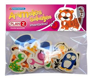 Animales Salvajes Imantados Magneticos 12 Piezas