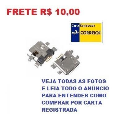 Kit 3 Conector Jack Fêmea Micro Usb 5 Pinos 0,8mm Frete R$10