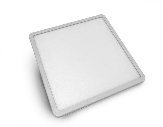 Luminária Quadrada Plafon De Embutir 8w Ajustável Presilha